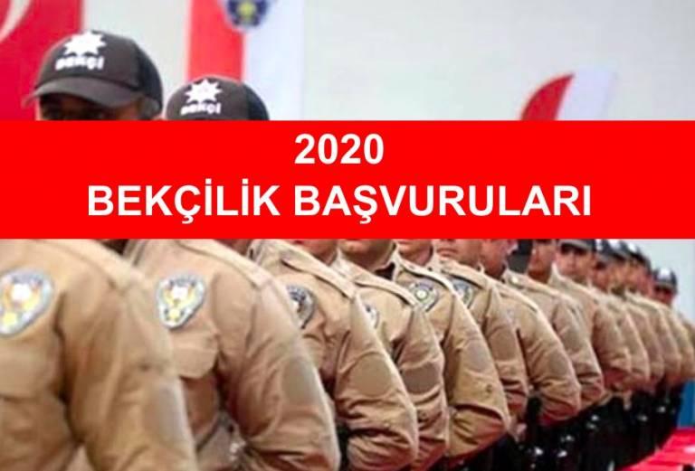 2020 yılında bekçi alımı